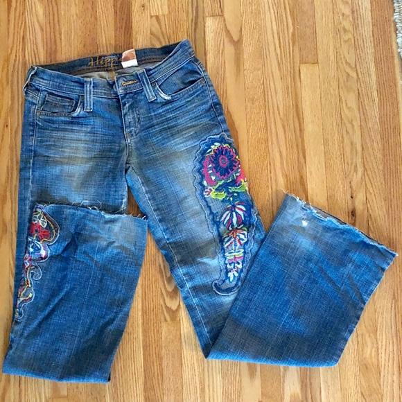 hippie Denim - HIPPIE Flared Low Rise Jeans